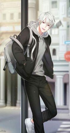 Zen (mystic Messenger) e sim ele eh gorgeous Garçon Anime Hot, Cool Anime Guys, Handsome Anime Guys, Anime Boys, Manga Boy, Anime Boy Zeichnung, Zen Mystic Messenger, Mystic Messenger Unknown, Estilo Anime