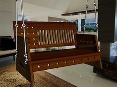 Are you looking for best wooden swings ? MEC 18 Teak wooden swing is the best solution at Mumbai with material of brass fitting and comfortable mattress.  #woodenswings, #woodenswing, #indianswings, #indianswing