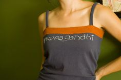 remodeled t-shirt.  cut off top and use a band from another t-shirt.
