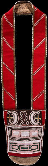 Tahltan (British Columbia), Bandolier Bag, beads/silk/wool/leather, c. 1880/90.