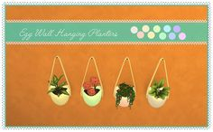 Plants Series Vol.3: Egg Wall Hanging Planters | Sims 4 Designs