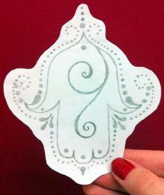 Hamsa tattoo draw