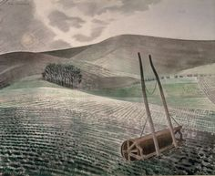 """Downs In Winter"" by Eric Ravilious, British artist.  1934."