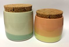 Two canisters from my new rainbow range. Visit www.sshannah.com for more functional ceramic loveliness.