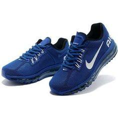 http://www.asneakers4u.com/ Cheap nike air max 2013 mens trainers blue white Sale Price: $68.60