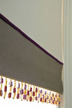 Roman Blind with Bottom Border and Piping
