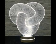 3D LED Lamp, Tube Shape, Decorative Lamp, Home Decor, Table Lamp, Office Decor, Plexiglass Art, Art Deco Lamp, Acrylic Night Light by ArtisticLamps