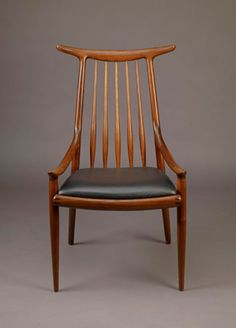 Horn-Back Chair with Spindle and Low Curving Arms, 1960; Sam Maloof