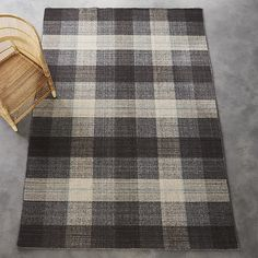 tailor plaid rug 9'x12' | CB2