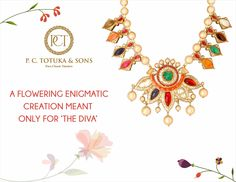 A flowering enigmatic creation meant only for 'The DIVA'.  #PCTandSonsJaipur #jaipurjewellery #navratna #necklace #floraldesign #picoftheday #jaipur #luxury #ethnic #traditional #bridal #wedding #rajasthan #india