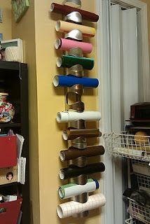 vinyl storage using ikea wine racks. vinyl-silhouette-ideas