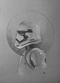 First Order Stormtrooper, Frédéric Bennett on ArtStation at https://www.artstation.com/artwork/o0n2W