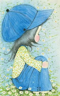 Vintage Illustrations Sue Adams Illustration- reminds me so much of childhood and the books my sister and I used to love. Illustration Mignonne, Cute Illustration, Vintage Greeting Cards, Vintage Postcards, Halloween Vintage, Art Mignon, Holly Hobbie, Australian Artists, Cute Cartoon
