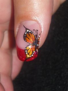 Gorgeous butterfly nail art