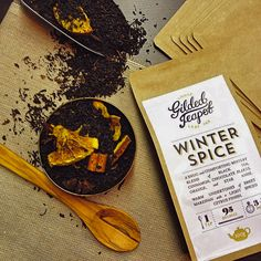 Our Winter Spice blend for chilly evenings. Black tea, orange, cinnamon and star anise...