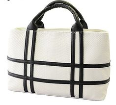 awesome New black and white hit color pu leather crocodile pattern square handbag