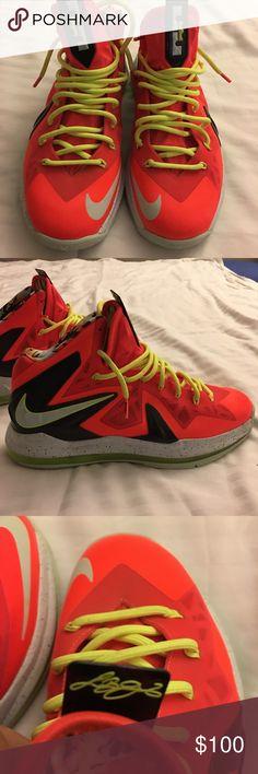 more photos bc1de 1a83e Nike LeBron James X P. Elite sneakers size US 11 Nike LeBron James X P.  Elite sneakers size US 11 color (total crimson fiberglass-black) bright  Orange ...