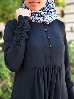 Shujana Abaya - Wedding World Abaya Fashion, Muslim Fashion, Fashion Outfits, Lace Up Bodycon Dress, Hijab Evening Dress, Hijab Style Dress, Modele Hijab, Mode Abaya, Sleeves Designs For Dresses