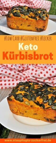 Dieses Keto Kürbisbrot musst du probieren! Es ist schnell zubereitet und bringt Abwechslung in deine Ernährung! Hol dir jetzt das Rezept auf www.staupitopia-zuckerfrei.de #kürbis #kürbisrezepte #ketorezepte #kürbisbrot #glutenfrei #lowcarbbrot #staupitopia