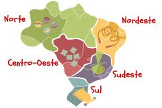 Mapa de brincadeiras regionais do Brasil