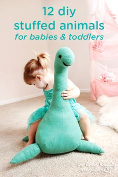 These 12 DIY stuffed animals for babies and toddlers are beyond adorable! Create a snuggly friend that your little one can keep by her side for years to come. These homemade toys may also make a thoughtful holiday, first birthday, or baby shower gift idea.