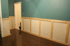 """Here, the wall acts as the """"panel""""--once painted, you'd never guess."""