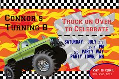 Monster Truck Birthday Party Invitation  by AsYouWishCreations4u, $12.00