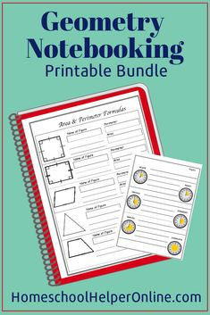 Here you will find free printable geometry, metric system, and other math related notebooking pages for your homeschool classroom. 10th Grade Geometry, Geometry Book, 8th Grade Math, Teaching Geometry, Sacred Geometry, Homeschool High School, Homeschool Curriculum, School Classroom, Classroom Ideas