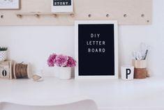 DIY Letter Board - So cool kann eine Wanddeko sein - Boho and Nordic | DIY & INTERIOR Blog
