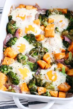 This Baked Egg and Roasted Veggie Casserole is the perfect healthy breakfast that uses up all those leftover veggies in one single dish! (without the cheese for Paleo/Whole 30)