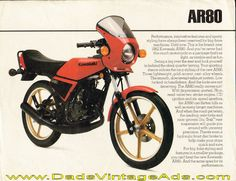 1982 Kawasaki AR80 dealer sheet photos & specs