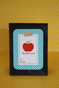 Teacher Thank-you printable. This site also has many other free printables.
