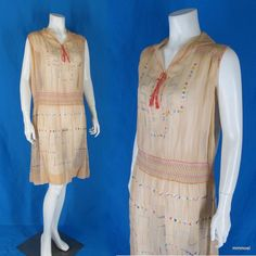 Vintage 1920s Sheer Cotton Voile Day Dress Openwork Embroidery & Smocking M  http://stores.ebay.com/mmmosts-Old-time-Stuff-and-Threads