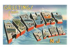 Greetings from Asbury Park, New Jersey Premium Poster at Art.com