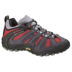 Zapatillas Trekking Mereell Chameleon Wrap Slam en colores grises y rojo.  Puedes ver más modelos de calzado y material de montaña en nuestras tiendas  de la ...