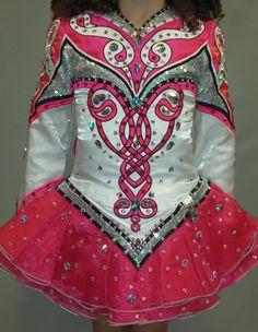 Amazing Pink Prime Dress Designs Irish Dance Dress Solo Costume For Sale