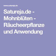 Satureja.de - Mohnblüten - Räucheerpflanze und Anwendung