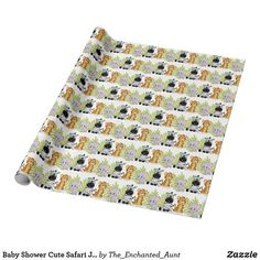 Shop Baby Shower Cute Safari Jungle Animals Wrapping Paper created by The_Enchanted_Aunt. Unique Wrapping Paper, Wrapping Paper Design, Jungle Animals, Cute Animals, Baby Shower Themes, Baby Shower Gifts, Baby Shower Wrapping, Safari Theme, Cute Elephant