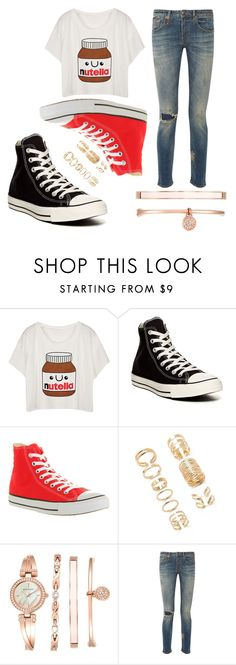 """yes."" by username050303 ❤ liked on Polyvore featuring Converse, Forever 21, Anne Klein and R13"