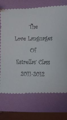 PreK classroom children and their teachers create Love Language Resource.  Video and images on Blog.