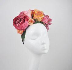 Mia Pink Flower Crown Headband Peony Flower crown Rose