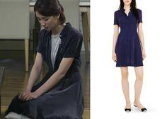 "Park Ha-Sun 박하선 in ""Temptation"" Episode 9. Club Monaco Gisella Shirt Dress #Kdrama #Temptation 유혹 #ParkHaSun"