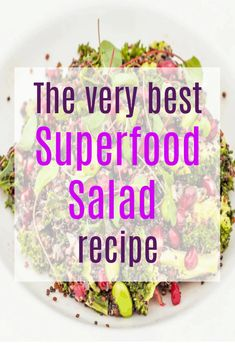 The best superfood salad recipe - super healthy and packed with colour taste and nutrition from Sopwell House in St. Superfood Salad, Superfood Recipes, Salad Recipes, Vegetarian Recipes Easy, Delicious Recipes, Slimming World Recipes, Budget Meals, Superfoods, Easy Meals