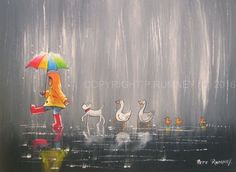 PETE RUMNEY FINE ART BUY ORIGINAL ACRYLIC OIL PAINTING IN THE LEAD DOG DUCKS in Art, Direct from the Artist, Paintings | eBay