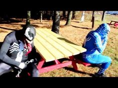 "Blue Spiderman vs Venom in Real Life! Spider-man Battles Venom Superhero Movie Blue Spiderman vs Venom in Real Life! Spider man Battles Venom Superhero Movie Spider-Man is a fictional superhero appearing in American comic books published by Marvel Comics existing in its shared universe. Spider-Man's creators gave him super strength and agility the ability to cling to most surfaces shoot spider-webs using wrist-mounted devices of his own invention which he calls ""web-shooters"" and react to…"