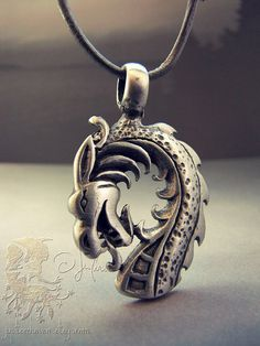 Mythic Necklace Dragon Norse Viking Fire Drake by JupitersHaven, $24.97