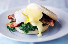 classic eggs benedict with wilted spinach eggs benedict 1 quantity ...