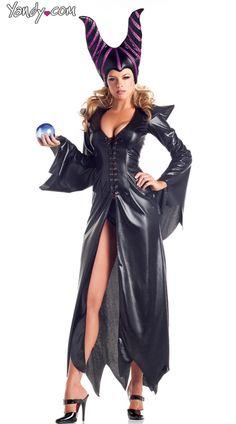 Evil Maleficent Costume, Furious Fairy Costume, Evil Witch Costume, Sexy Witch Costume for Women