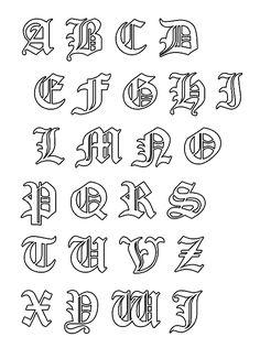 lettere miniate da stampare - Cerca con Google