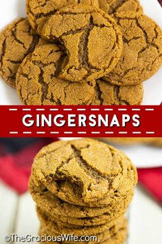 Classic Gingersnaps with a bold spicy cinnamon and ginger flavor, crispy edges and a chewy center are easy to make and the perfect holiday cookie! A must make for Christmas and cookie exchanges! Chocolate Marshmallow Cookies, Chocolate Chip Shortbread Cookies, Toffee Cookies, Spice Cookies, Yummy Cookies, Bar Cookies, Easy Cookie Recipes, Dessert Recipes, Bar Recipes